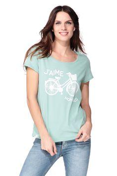 Short sleeve Top - Green/Khaki Only on MonShowroom.com