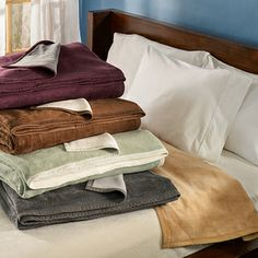German Reversible Cotton Plush Blanket | Overstock.com Shopping - The Best Deals on Blankets