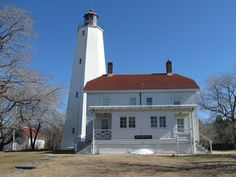 Sandy Hook Light, I loved Sandy Hook. there were little tiny water hermit crabs. So dear.