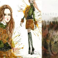 #wood#fashion#daryasdesign#illustration#sketch#aquarelle#tartan#drawing#figurine Darya Tretyakova