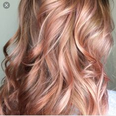 36 Rose Gold Hair Color Ideas to Die For Beautiful Rose Gold / Balayage / Blush. Are you looking for rose gold hair color hairstyles? See our collection full of rose gold hair color hairstyles and get inspired! Rose Gold Hair Blonde, Balayage Hair Rose, Blonde Balayage, Blonde Pink, Auburn Balayage, Brown Blonde, Rose Gold Balayage Brunettes, Brown Hair, Pink Hair
