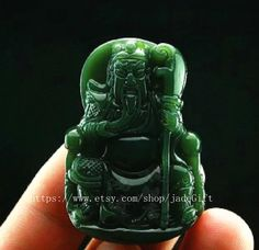 Free Shipping  good luck Natural dark green jadeite by jadeGift, $22.99