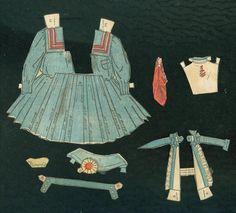 Muñecas de papel plisado vestido de marinero C1900 | eBay
