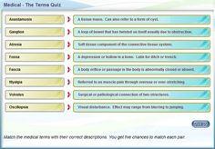 online medical terminology quiz