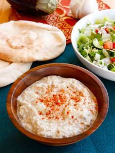 Creamy Baba Ghanoush - Recipe for Middle Eastern Eggplant Dip with Tahini and Garlic by Tori Avey. Healthy and delish!