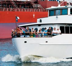Did you know you can take a free, 90-minute boat tour of the Port of Houston?  Go to the Port of Houston's website, and check the Community Outreach page for more info. They even let you know if the boat is running late or on time. We saw enormous Russian tankers coming into the port. Cool.