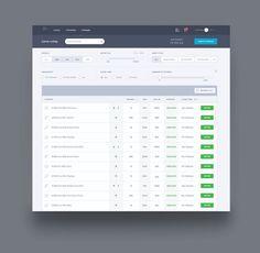 Work in progress of a web application UI by @ponsgroup #ui #uidesign #webapp…