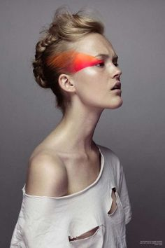 look 3 makeup- for neutral clothing and modern dance... maybe literally this.