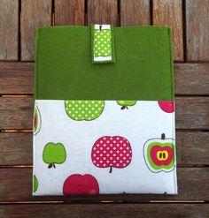 Handmade, Felt iPad Sleeve, iPad Case, Felt iPad Cover Green, Apple Cotton Fabric iPad Bag Custom Made for iPad mini, iPad 1 2 3 4 New by NIJICOLLECTION on Etsy https://www.etsy.com/listing/167091375/handmade-felt-ipad-sleeve-ipad-case-felt