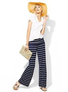 Womens Clothing: Womens Clothing: Featured Outfits New Arrivals | Gap.  Love these pants! (hat and clutch not T4 colors)