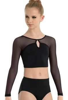 Crop Top with Mesh Yoke | Body Wrappers