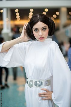 Prettier than the original,  Princess Leia (Star Wars) #Cosplay #AX2014