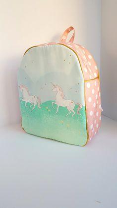 Childrens Backpack, Kids Backpack, Toddler Backpack, Unicorn Parade