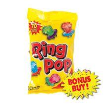 Bulk Ring Pops, 4-ct. Bags at DollarTree.com (For bridesmaid bags)