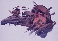 ESPN Mag Danny Davis portrait - Sam Green | Illustration and Art. Creative studio, contemporary digital and handmade illustration