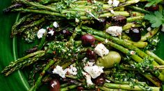 NYT Cooking: Charred Asparagus With Green Garlic Chimichurri