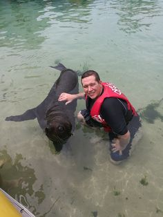 Myself and Rocco, a juvenile male New Zealand Fur Seal - Sea World 21/3/17