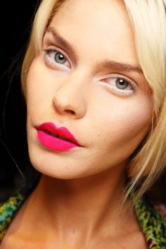 Eye Makeup to Balance Bold Lipstick | Beauty High - line the lower inner rim with white eyeliner to brighten them