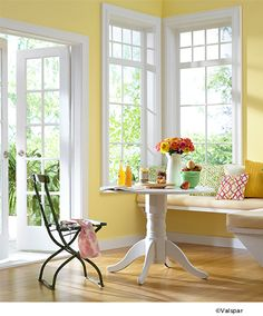Valspar Summer Wish 3005-2B looks great in a kitchen and shines brightly in the summer.