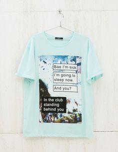 T-shirt 'B-day' - New - Bershka Portugal