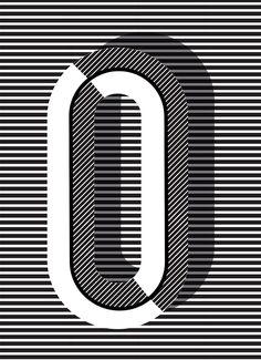 "O print in ""Copenhagen"" style, more letters + styles available // Pa. - O print in ""Copenhagen"" style, more letters + styles available // Pawaiian Hunch, @ - Creative Typography, Typography Letters, Typography Prints, Graphic Design Typography, Graphic Design Illustration, Typographie Fonts, Typographie Inspiration, Pochette Album, Copenhagen Style"