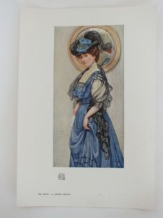 "Unframed colour Art print from an early 1900s issue of the Studio Magazine. Printed on ivory coloured paper.  No printing to reverse.  Sheet measures approx 11.00"" x 7.625"" (28.00 cms x 19.50 cms).  Good clean and tidy condition."