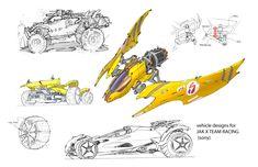 Concept artwork for JAK X Team Racing vehicle design -Sony