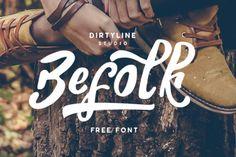 (vía Befolk – Free Font on Behance)