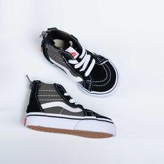 Vans Unisex Sk8-Hi Black/Grey Zip 2 Tone Shoes