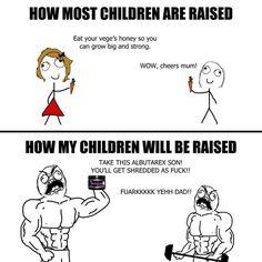 LOL gym humor meme, bodybuilding, powerlifting, weightlifting, crossfit, etc.