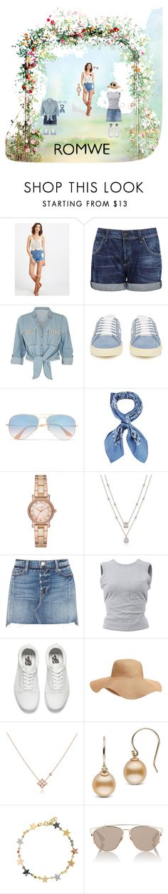 """ROMWE."" by colicarnel ❤ liked on Polyvore featuring Citizens of Humanity, ZAK, Yves Saint Laurent, Ray-Ban, Manipuri, Michael Kors, Frame, T By Alexander Wang, Vans and Old Navy"