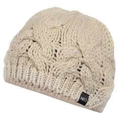 Hit the golf course in styler this winter with this awesome value womens  NEO chunky cable knit golf beanie hat by Adidas! c8e0b770847e