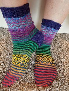 Ravelry: Blustery Day Socks pattern by Denise Bein Kroll Crochet Socks, Knitting Socks, Hand Knitting, Knitted Hats, Knit Crochet, Knitting Patterns, Boot Toppers, Pattern Pictures, Wool Socks