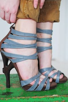 Love these! The heel is made of really good wood! and the lace is freaking cute!