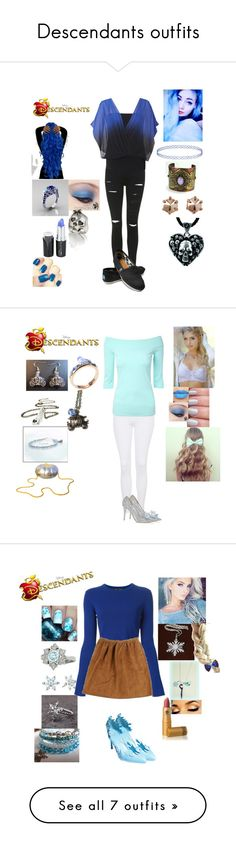 """""""Descendants outfits"""" by maxinepotter ❤ liked on Polyvore featuring Topshop, Coast, TOMS, Marc by Marc Jacobs, Sheeva, disney, OC, Descendants, Jimmy Choo and Disney"""