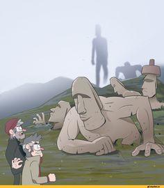 Gravity Falls,фэндомы,GF Персонажи,Stanley Pines,Stanford Pines,moringmark