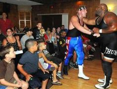 The Belleville Knights of Columbus #835 sponsored a fundraiser event with the World Wrestling Superstars at it's headquarters on Bridge Street. Proceeds of the fundraiser go to support the Belleville Knights activities or the seminarians at St. Peter's Church.