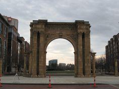 Old Union Station Arch Columbus Ohio