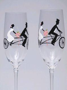 verres pour mariés