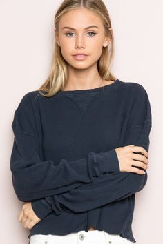 Brandy ♥ Melville    Laila Thermal Top - Long Sleeves - Tops - Clothing