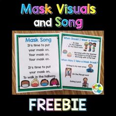 "This poster and song set helps early childhood students understand the procedures for wearing masks at school.The ""When Should I Wear a Mask?"" poster comes with an option for flexible seating and an option for traditional desks.The Mask Song is an engaging way to cue your little learners that it is ... Traditional Desks, Cue Cards, Visual Cue, Little Learners, Classroom Management, Early Childhood, Masks, Homeschool, Students"