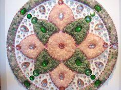 Mandala Chakra Cardíaco Quartzo Rosa e Quartzo Verde