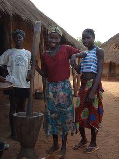 Women working in the village. Bijagos Archipelago. Guinea Bissau