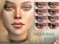 Sims 4 CC's - The Best: Meliodas Eyes N130 by Pralinesims