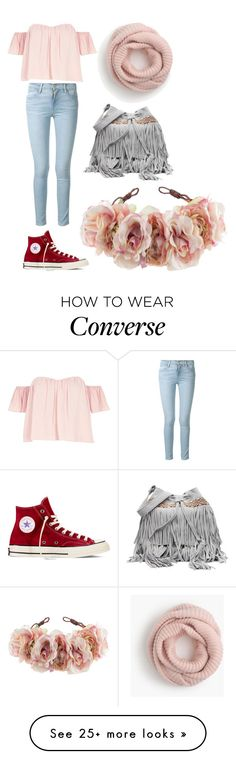 """""""Outdoor clothing"""" by izzy-pandy on Polyvore featuring River Island, Frame Denim, Converse, J.Crew, Rock 'N Rose and wear"""