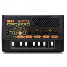 This pocket size synthesizer is so epic. I want to give it as a present to all my friends :) Korg Monotron DELAY synthesizer kopen? | Goedkope | Promo | Synthesizer
