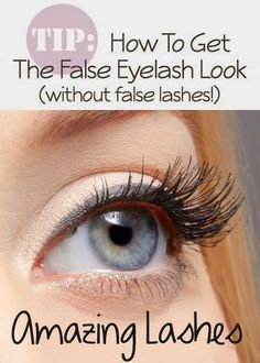 How To Get The False Eyelash Look (without false lashes!) #long_lashes