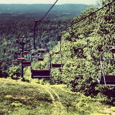 An abandoned ski resort in western Pennsylvania.