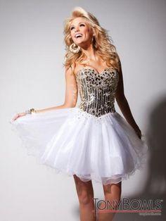 Tony Bowls Shorts Dress TS11351 at Prom Dress Shop