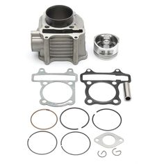 150cc GY6 Engine Cylinder Piston Pin Assembly Kit Scooter Moped ATV Bike Gokart